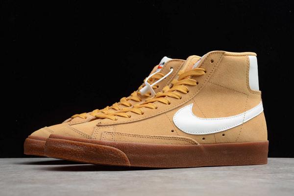New Style Nike Blazer Mid Wheat Gum Sneakers DB5461-700-4