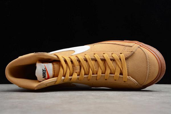 New Style Nike Blazer Mid Wheat Gum Sneakers DB5461-700-3