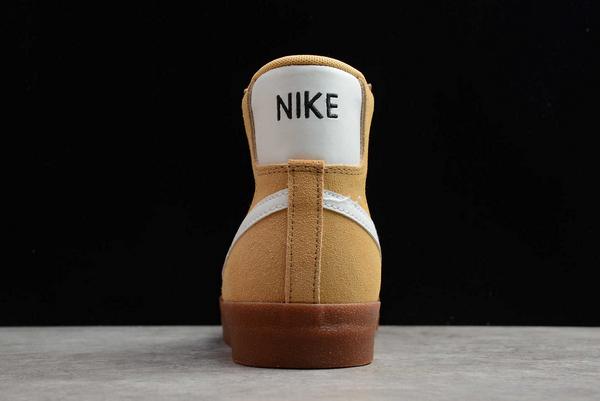 New Style Nike Blazer Mid Wheat Gum Sneakers DB5461-700-2