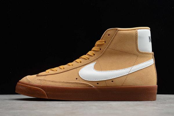 New Style Nike Blazer Mid Wheat Gum Sneakers DB5461-700