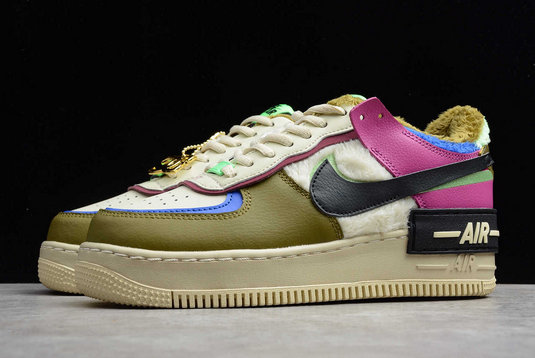 Nike Air Force 1 Shadow Cactus Flower Olive Flak For Girls CT1985-500-2