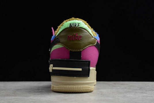 Nike Air Force 1 Shadow Cactus Flower Olive Flak For Girls CT1985-500-4