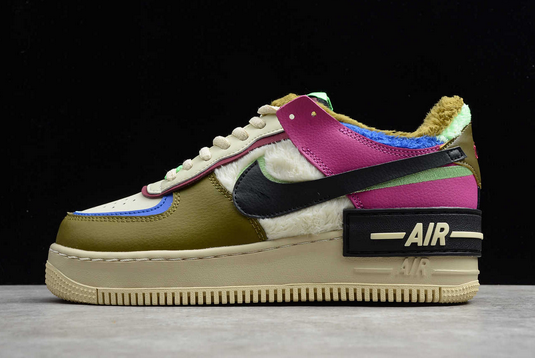 Nike Air Force 1 Shadow Cactus Flower Olive Flak For Girls CT1985-500