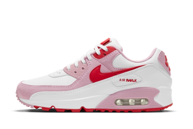 2021 Cheap Nike Wmns Air Max 90 Valentines Day For Sale DD8029-100