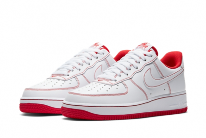 2021 Latest Nike Air Force 1 Low 07 White University Red CV1724-100 On Sale-3