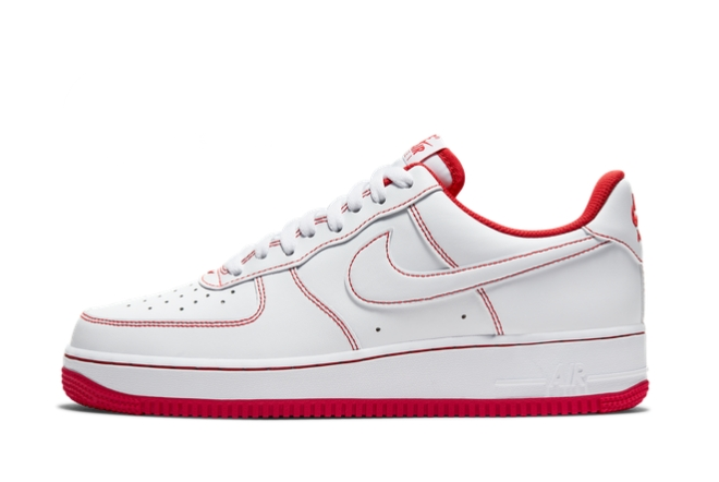 2021 Latest Nike Air Force 1 Low 07 White University Red CV1724-100 On Sale