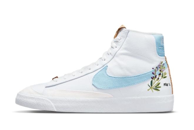 2021 Latest Nike Blazer Mid 77 Obsidian White Flower CI1166-100 On Sale