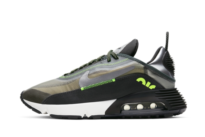 2021 New 3M x Nike Air Max 2090 Grey Volt For Sale CW8336-001