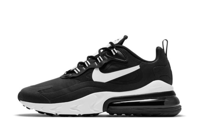 2021 New Nike Air Max 270 React Black White For Sale DJ0032-011