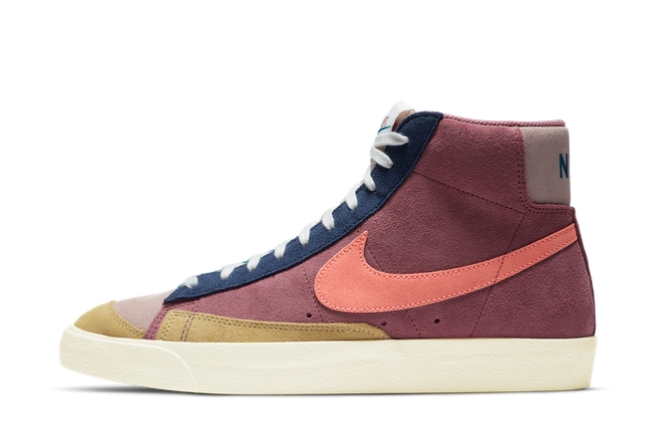 2021 New Nike Blazer Mid '77 Vintage Suede Desert Berry For Sale DC9179-664