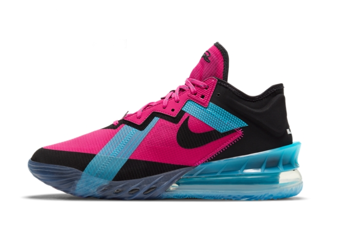 2021 New Nike LeBron 18 Low Neon Nights For Sale CV7562-600