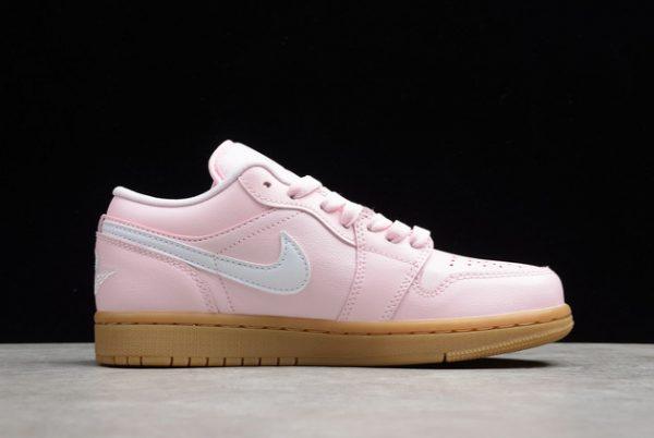 2021 Cheap DC0774-601 Air Jordan 1 Low GS Pink Gum For Sale-1