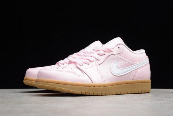 2021 Cheap DC0774-601 Air Jordan 1 Low GS Pink Gum For Sale-2