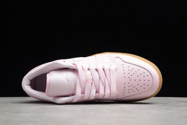 2021 Cheap DC0774-601 Air Jordan 1 Low GS Pink Gum For Sale-3