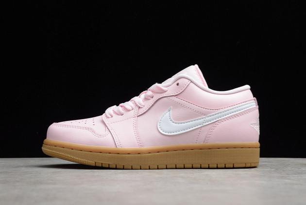 2021 Cheap DC0774-601 Air Jordan 1 Low GS Pink Gum For Sale