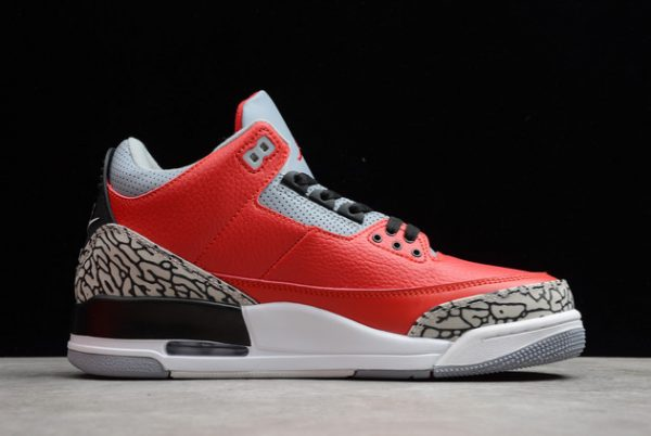 2021 New CK5692-600 Air Jordan 3 Red Cement For Sale-1