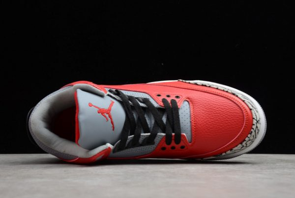 2021 New CK5692-600 Air Jordan 3 Red Cement For Sale-3