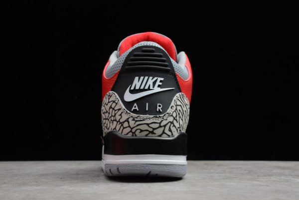2021 New CK5692-600 Air Jordan 3 Red Cement For Sale-4