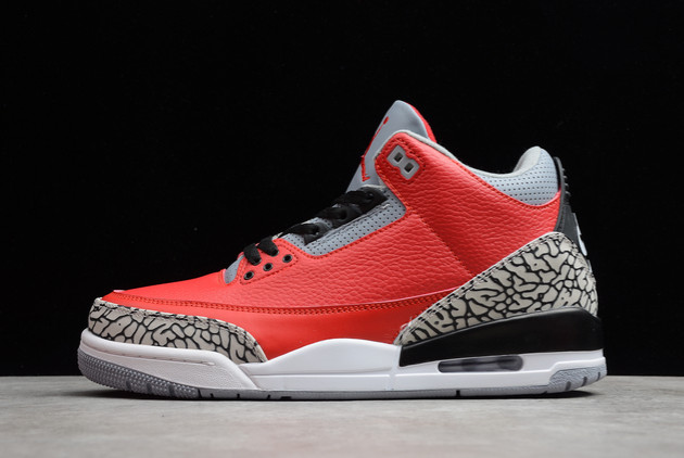 2021 New CK5692-600 Air Jordan 3 Red Cement For Sale
