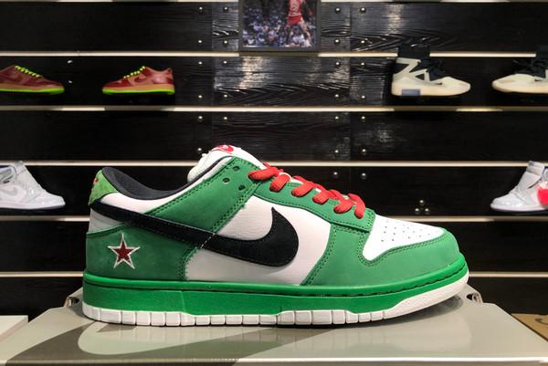 2021 Cheap 304292-302 Nike Dunk SB Low Heineken For Sale