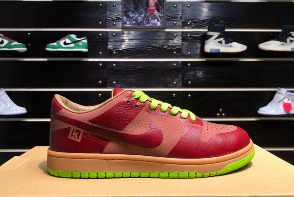 2021 Cheap 311611-661 Nike Dunk Low 1-Piece Laser Varsity Red Chartreuse For Sale