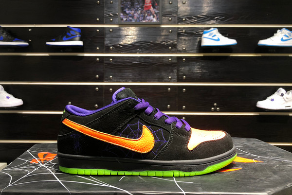 2021 Cheap BQ6817-006 Nike SB Dunk Low Night of Mischief Halloween For Sale