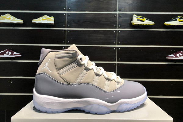 2021 Cheap CT8012-005 Air Jordan 11 Cool Grey Medium Grey White-Cool Grey