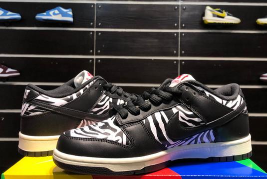 2021 Cheap DM3510-001 Quartersnacks x Nike SB Dunk Zebra-5