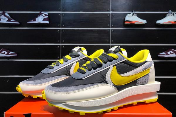 2021 Cheap Undercover x Sacai x Nike LDWaffle Bright Citron DJ4877-001-3