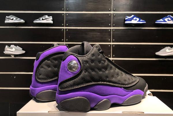 2021 Latest Air Jordan 13 Black/White-Court Purple-4
