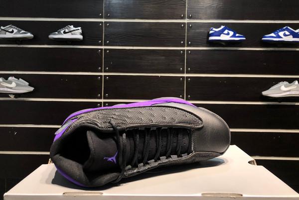 2021 Latest Air Jordan 13 Black/White-Court Purple-5