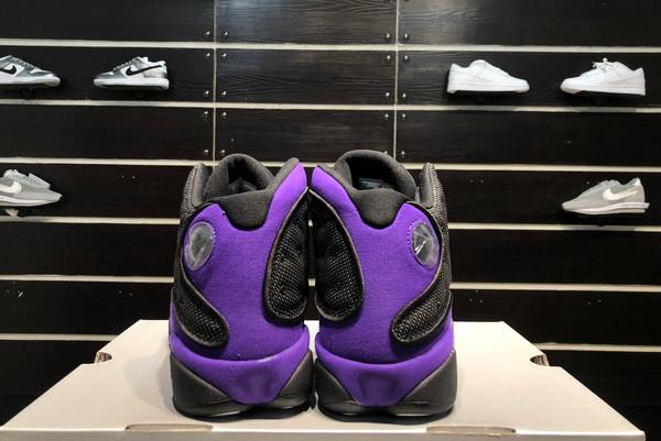 2021 Latest Air Jordan 13 Black/White-Court Purple-6