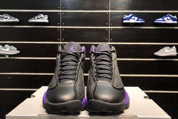 2021 Latest Air Jordan 13 Black/White-Court Purple-7