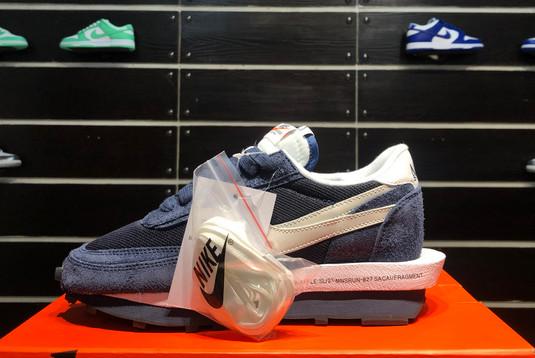 2021 Latest fragment x sacai x Nike LDWaffle Blackened Blue DH2684-400-1