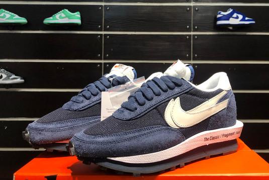 2021 Latest fragment x sacai x Nike LDWaffle Blackened Blue DH2684-400-2