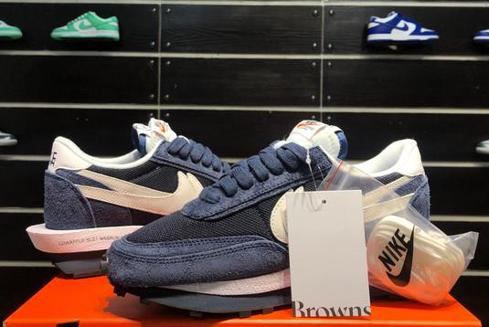 2021 Latest fragment x sacai x Nike LDWaffle Blackened Blue DH2684-400-4