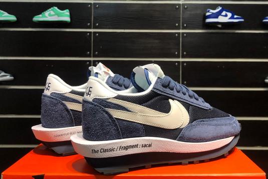 2021 Latest fragment x sacai x Nike LDWaffle Blackened Blue DH2684-400-5