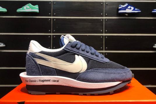 2021 Latest fragment x sacai x Nike LDWaffle Blackened Blue DH2684-400