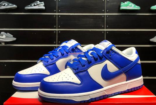 2021 Latest Nike Dunk Low Kentucky White/Varsity Royal CU1726-100-3