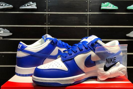 2021 Latest Nike Dunk Low Kentucky White/Varsity Royal CU1726-100-2