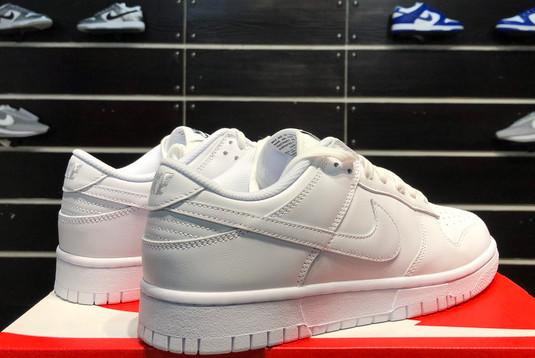 2021 Latest Nike Dunk Low Triple White DD1503-109-4